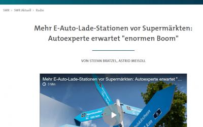 """SWR: Mehr E-Auto-Lade-Stationen vor Supermärkten: Autoexperte erwartet """"enormen Boom"""""""