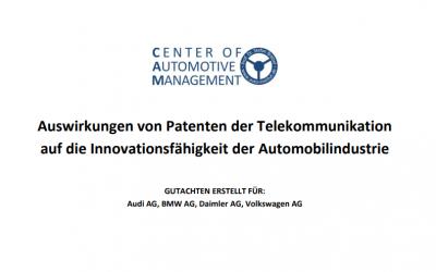 Auswirkungen von Patenten der Telekommunikation auf die Innovationsfähigkeit der Automobilindustrie