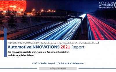 AutomotiveINNOVATIONS Report 2021 jetzt vorbestellbar!