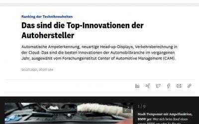 Manager Magazin: Das sind die Top-Innovationen der Autohersteller